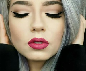 beauty, urban style, and makeup image