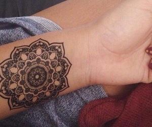 tattoo, mandala, and black image
