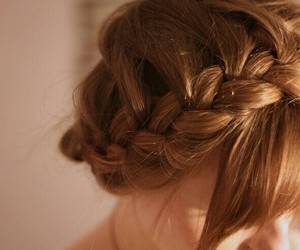 braid, ginger, and girl image