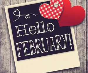 calendar, february, and valentines image