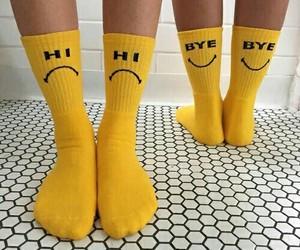 yellow, socks, and aesthetic image