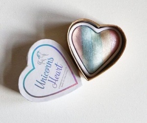 unicorn, makeup, and heart image