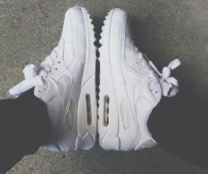 white, air max 90, and n ike image