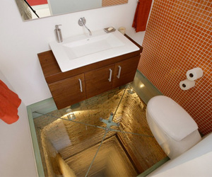 abyss, bathroom, and glass floor image