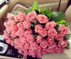 car, roses, and for me image