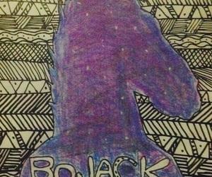 art, bojack horseman, and galaxia image
