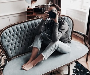 girl, style, and camera image