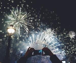 fireworks, hipster, and light image