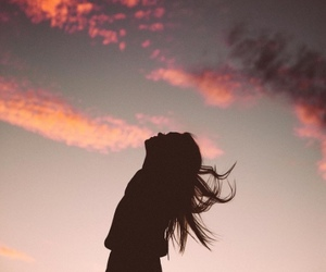 girl and sky image