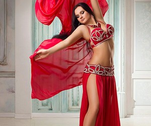 dress, passion, and red image