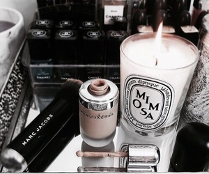 candle, marc jacobs, and makeup image