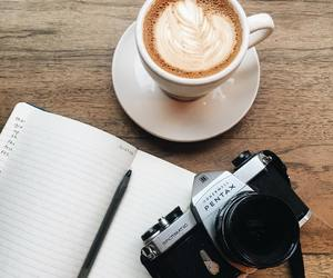 cafe, camera, and coffee image