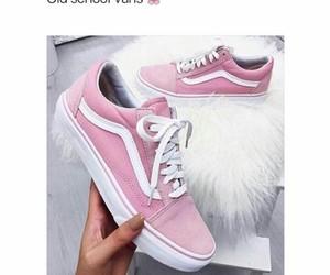 pink, vans, and old school vans image