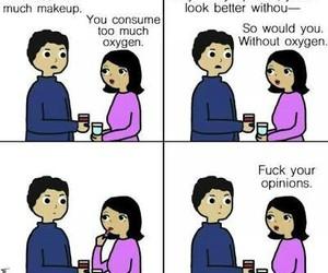 funny, makeup, and woman image