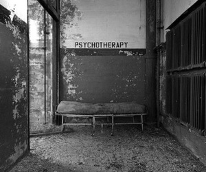 psychotherapy, Psycho, and black and white image