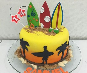 cake, cakes, and surf image