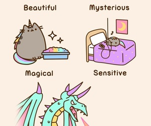 pusheen, unicorn, and cat image