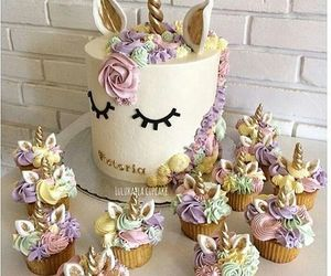 unicorn, cake, and sweet image