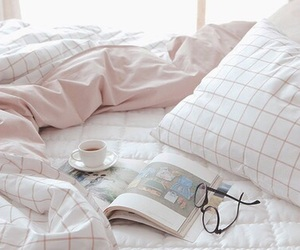 pink, aesthetic, and bed image