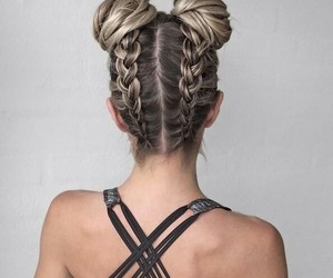 braids, brown, and hairstyle image