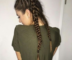 braids, hairstyle, and fashion image