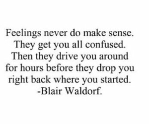 feelings, gossip girl, and blair waldorf image