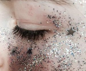 glitter, aesthetic, and eyes image