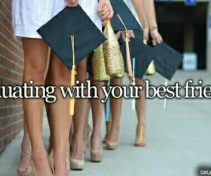 best friends and graduate image