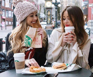 girl, starbucks, and winter image