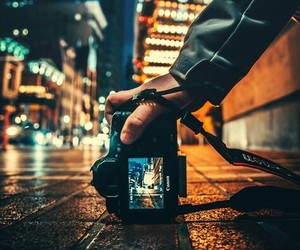 photography, city, and night image