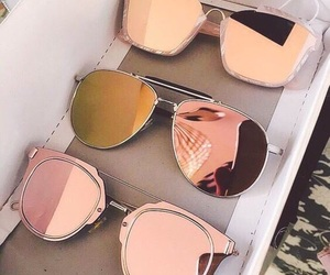 glasses, rose gold, and pink image