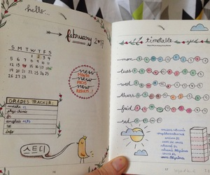 february, planner, and study image