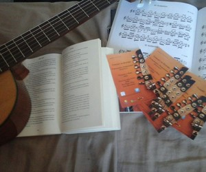 read, play music, and book image