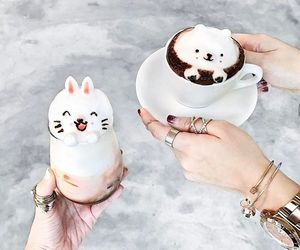 cute, drink, and coffee image