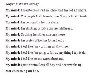 alone, fat, and mind image