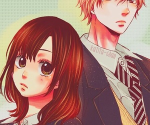 anime, couple, and ookami shoujo image
