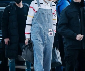 bts, airport, and fashion image