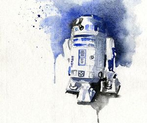r2d2, star wars, and art image