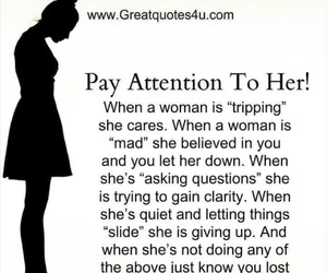 attention, quotes, and woman image