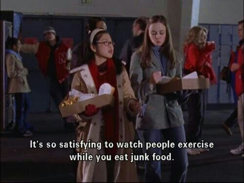 gilmore girls and junk food image