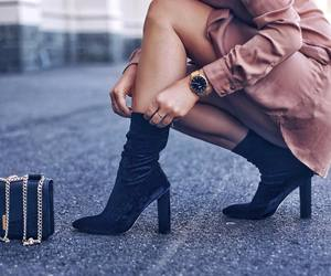 chic, legs, and fashion image