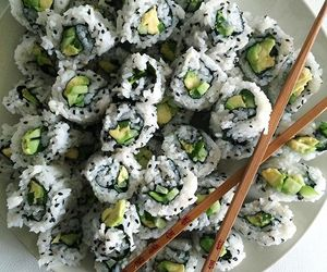 sushi, food, and tumblr image