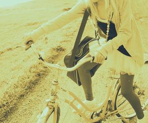 bike, girl, and bicycle image