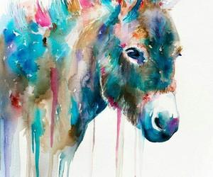 animal, donkey, and art image
