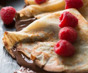 chocolate, food, and crepes image
