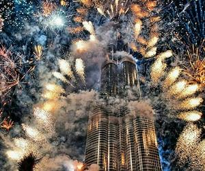 fireworks, Dubai, and new year image