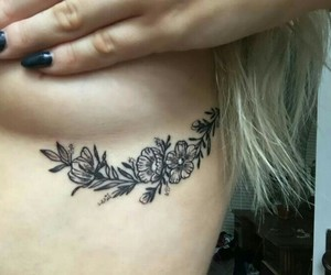 pin, tatoos, and sideboob tattoo image