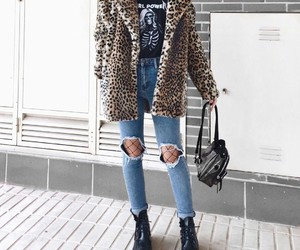 accessories, clothes, and distressed jeans image
