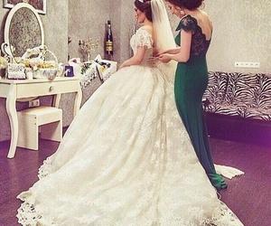bague, robe, and robe de mariée image