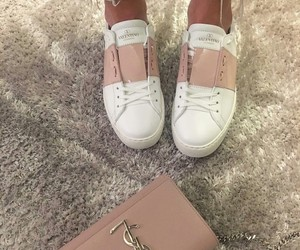 basket, shoes, and Valentino image